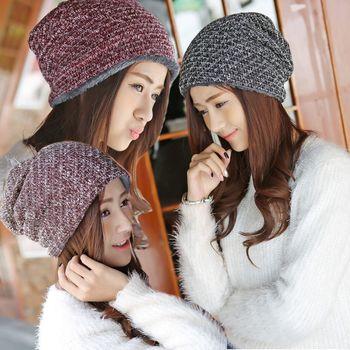 【Moscova】舒適仿羊毛保暖針織頭套帽