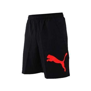 【PUMA】男訓練系列大跳豹8吋短褲-籃球褲 運動褲 慢跑 路跑 球褲 黑紅