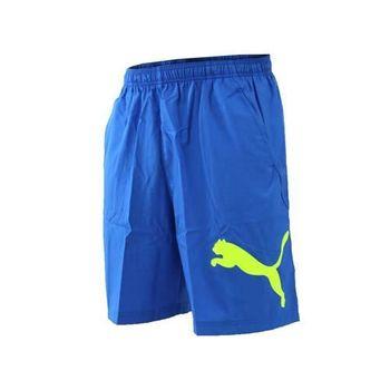 【PUMA】男訓練系列大跳豹8吋短褲-籃球褲 運動褲 慢跑 路跑 球褲 寶藍黃