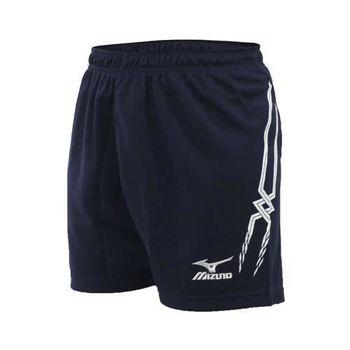 【MIZUNO】女排球褲-排球短褲 慢跑 美津濃 丈青白