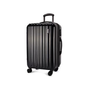 【福利品】SUMDEX鏡面行李箱/登機箱25吋-黑色(SWR-784BK)