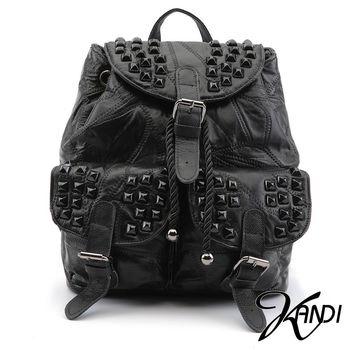 【KANDI】鉚釘潮流羊皮後背包
