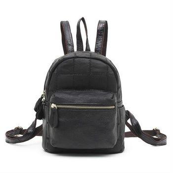 【BAIKAL】時尚羊皮可愛小後背包(共兩色)