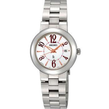 SEIKO LUKIA 自信閃耀時尚腕錶-白/28mm 7N82-0CN0S(SXDE23J)