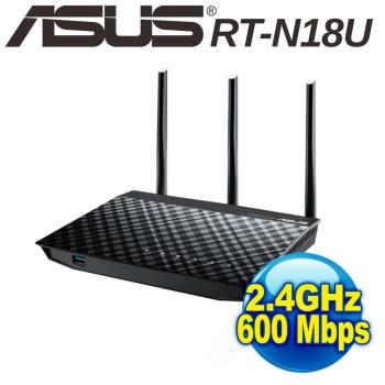 ASUS  華碩 RT-N18U高效能無線分享器 (600Mbps)