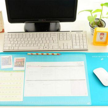 【香草花園】時尚粉彩分隔收納辦公桌墊/電腦桌墊/文具墊