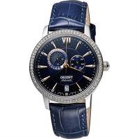 ORIENT 東方錶 浪漫銀河 晶鑽機械女錶 ^#45 藍 ^#47 36mm SET0W
