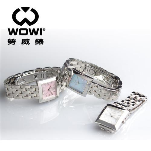 WOWI 簡約風羅馬方型鍊帶腕錶 WA2136-L