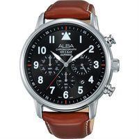 ALBA Prestige 飛行 酷 計時腕錶 ^#45 黑x咖啡 ^#47 44mm V