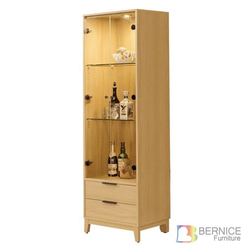Bernice-賽斯2尺二門二抽展示櫃/書櫃