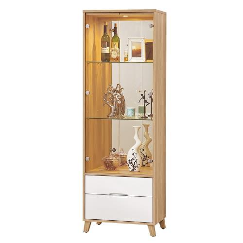 Bernice-羅曼尼2尺二門二抽展示櫃/書櫃