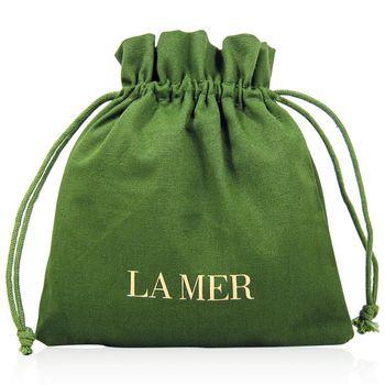 LA MER 海洋拉娜 經典綠 麻布收納束口袋 (長17cm 寬17cm)
