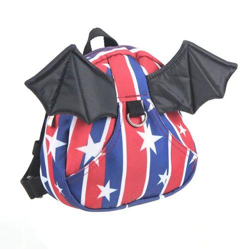 小恶魔翅膀 幼儿防走失背包(书包)-美国国旗