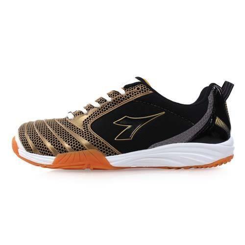 【DIADORA】男羽球鞋-排球鞋 黑金