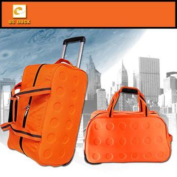 【US DUCK】尼龍拉桿旅行袋(可提/可拖/可拉) UN-2007