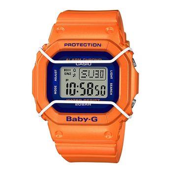 CASIO 卡西歐Baby-G 少女時代電子錶-橘 / BGD-501FS-4