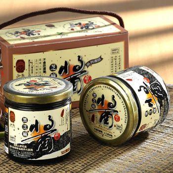 【弘益傳香世家】古法研磨100%黑芝麻醬6入組