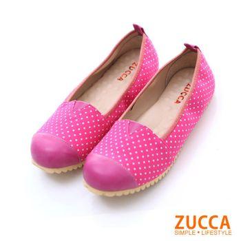 ZUCCA【Z5739PK】微甜春氛配色點點懶人鞋-粉色