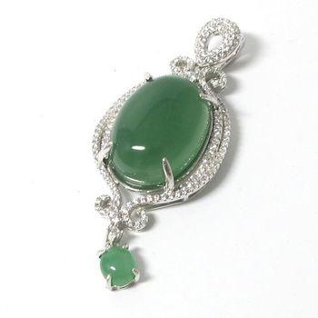 戴昇金珠寶-22克拉天然翡翠藍寶墜