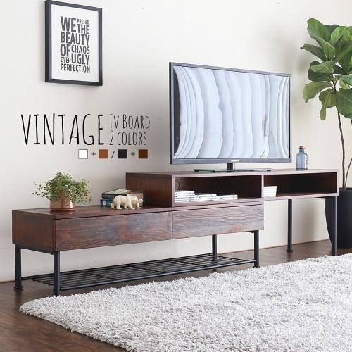 【H&D】凡特斯工業風格伸縮電視櫃-2色