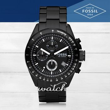 【FOSSIL】型男必備_不鏽鋼錶帶_三眼顯示_指針男錶(CH2601)