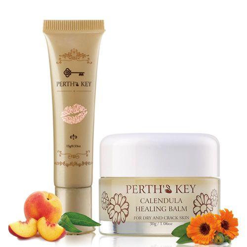 PERTHS KEY栢司金 金盞花修護脂膏30g / 長效滋潤唇膜蜜15g 共2瓶(可任選)
