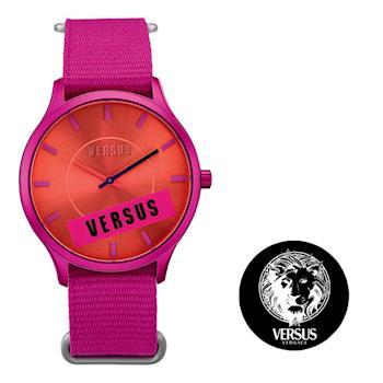 【VERSUS】野艷梅紅帆布錶(SO607)