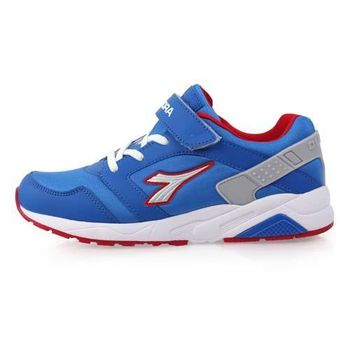 【DIADORA】男女大童流行跑鞋-慢跑 路跑 寬楦 寶藍紅