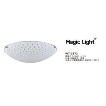 【光的魔法師 Magic Light】孔雀紋烤彎玻璃吸頂3燈 - WT-3372 吸頂燈具 臥室燈