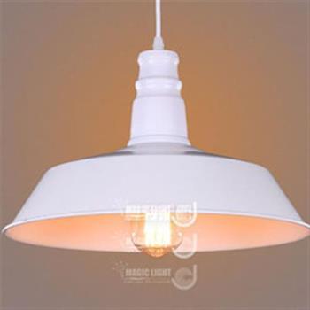 【光的魔法師 Magic Light】Loft2 餐廳吧台 工業風燈 美式鄉村 迷你鋁蓋吊燈 白色