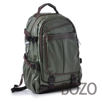 【BOZO柏樂】韓國休閒防水厚質後背包6009-碧璽綠