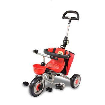 新寶寶摺疊三輪背包車第三代(紅)/IDES/三輪車/兒童騎乘