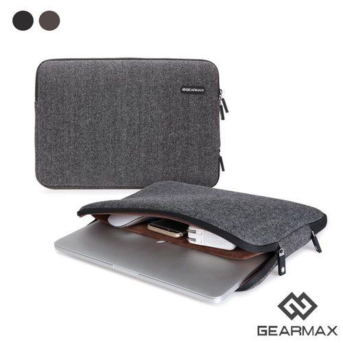 Gearmax MacBook專用 15.4吋 英倫人字紋毛呢避震袋 筆電包 電腦包 (DH138)