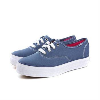 Keds 厚底布鞋 女鞋 藍色 no133