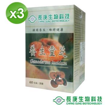 長庚生技 養生靈芝(60粒/瓶)x3瓶