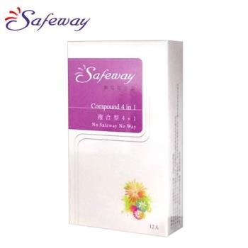 SAFEWAY數位-複合型4in1保險套(12入裝)
