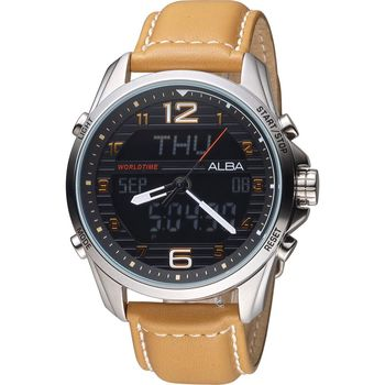 ALBA 雅柏 活力運動系列雙顯腕錶 N021-X004J AZ4013X1