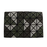 ISSEY MIYAKE BAOBAO幾何方格4x6萬用卡片袋 ^#40 深淺綠 ^#47