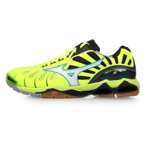 【MIZUNO】WAVE TORNADO X 男排球鞋-美津濃 螢光黃藍
