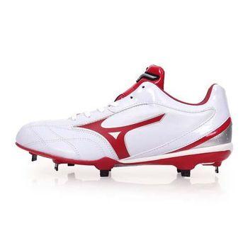 【MIZUNO】NEXTCROSS CQ 男棒壘球鞋-棒球 壘球 美津濃 白紅