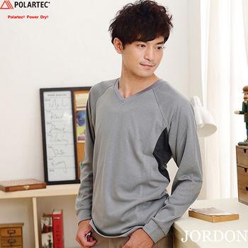 【JORDON】男POLARTEC Power Dry透氣快乾長袖圓領衫(771)