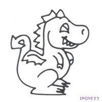 【BabyTiger虎兒寶】愛玩色 兒童無毒DIY彩繪玻璃貼 - 小張圖卡- 恐龍 IPC
