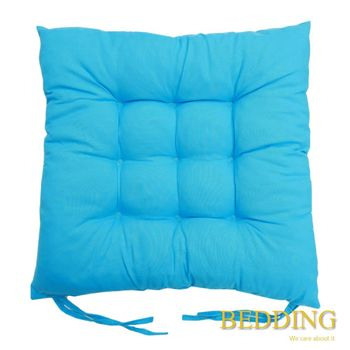 【BEDDING】綁帶式九針餐桌椅墊-天空藍