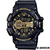 CASIO G ^#45 SHOCK 街頭搖滾金屬風多層次雙顯 錶 GA ^#45 400