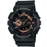 CASIO G ^#45 SHOCK 復古重機雙顯錶 GA ^#45 110RG ^#45