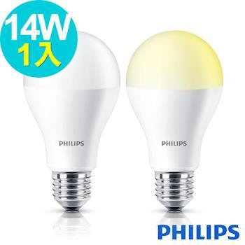 PHILIPS 飛利浦 14W LED燈泡 全電壓(白/黃光)