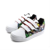 adidas 板鞋 童鞋 三個魔鬼氈 白色 中童 no350