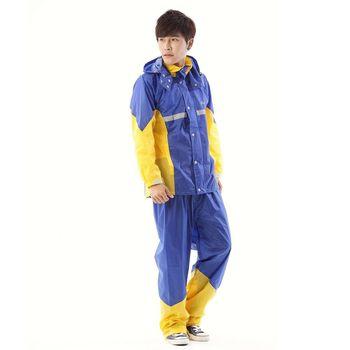 RainX - CS 二件式透氣套裝風雨衣 - 藍黃