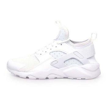 【NIKE】AIR HUARACHE RUN ULTRA GS 女運動休閒鞋-慢跑 白