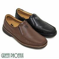 ~GREEN PHOENIX~ 簡約直套式全真皮休閒男鞋 ^#40 男鞋 ^#41 ^#4